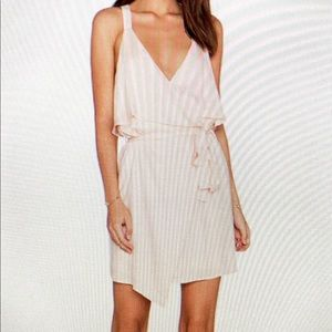 Lucca Couture Ruffle Front Wrap Dress